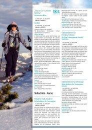 Skitechnik Kurse - Ski Plus - Österreichischer Alpenverein Wien