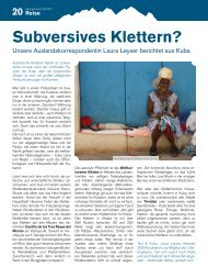 Reisebericht Kuba: Subversives Klettern? - Gebirgsverein