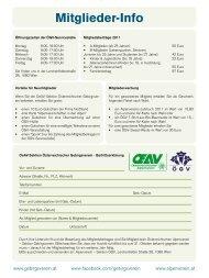 Mitglieder-Info - Gebirgsverein