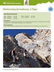 Programm der Alpinschule Peilstein Reiseprogramm - Gebirgsverein