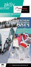 aktueller Schneeschuhwanderfolder 2013 - Österreichischer ...