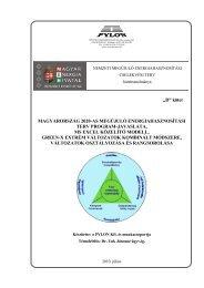 NCST forgatókönyv javaslat II. - Magyar Energia Hivatal
