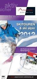Skitouren - Österreichischer Alpenverein Wien