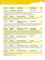 Tourenprogramm Juni bis August - Gebirgsverein