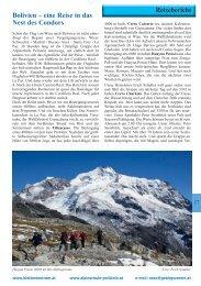 Bolivien – eine Reise in das Nest des Condors Reisebericht