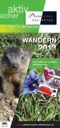 Folder WANDERN und Natur 2013.indd - Alpenverein Edelweiss