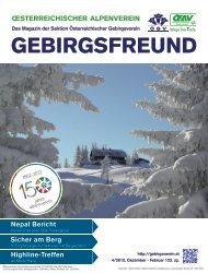 GEBIRGSFREUND - Österreichischer Alpenverein Wien
