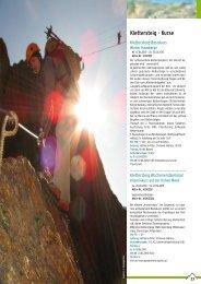 Klettersteig: Kurse & Touren - Österreichischer Alpenverein Wien