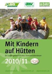Mit Kindern auf Hütten 2010/11 - Österreichischer Alpenverein Wien