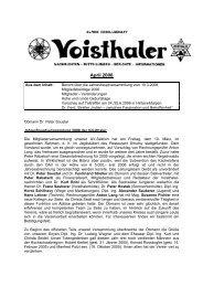 zur Zeitung... - Österreichischer Alpenverein Wien