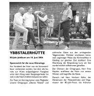 Jubiläum Ybbstalerhütte - Österreichischer Alpenverein Wien