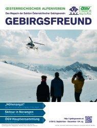 Gebirgsfreund 3/13 - Österreichischer Alpenverein Wien