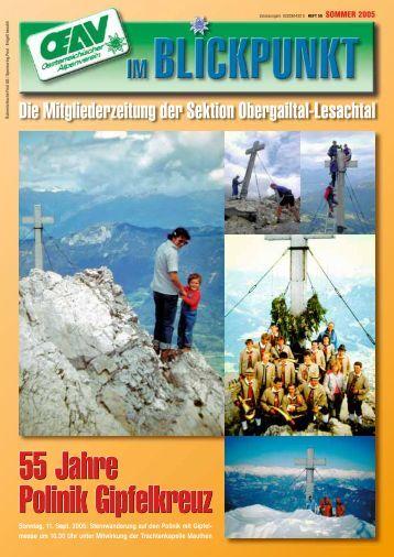 OeAV Obergailtal-Lesachtal Mitgliederzeitung Sommerausgabe ...