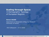 A Demographic Typology of European Regions