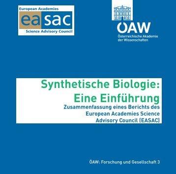 Synthetische Biologie: Eine Einführung - Österreichische Akademie ...