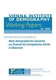 Working Papers - Österreichische Akademie der Wissenschaften