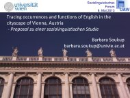 Tracing occurrences and functions of English in the cityscape of ...