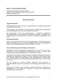 Schriftenverzeichnis und Vorträge - Österreichische Akademie der ...