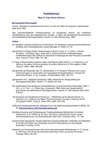 Publikationen - Österreichische Akademie der Wissenschaften