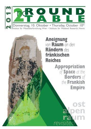 Aneignung von Raum - Österreichische Akademie der Wissenschaften