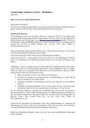 Archaeologia Austriaca (ArchA) – Richtlinien - Österreichische ...