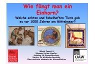 Wie fängt man ein Einhorn, Teil 2 - Österreichische Akademie der ...