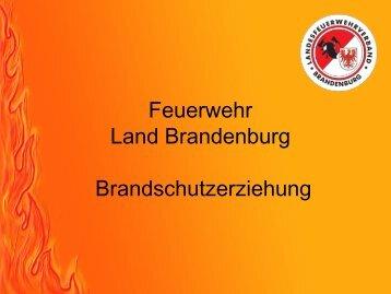 Brandschutzerziehung im Land Brandenburg Teil 1
