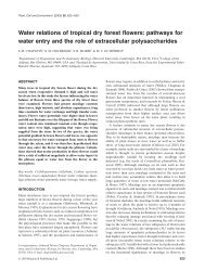 Water relations of tropical dry forest flowers - Department of ...