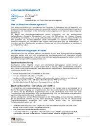 Ute Flammersheim: Beschwerdemanagement