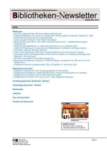 September 2013 - Landesfachstelle für das öffentliche ...