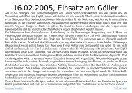 Bilddokumentation Göllereinsatz
