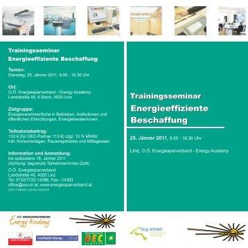 Energieeffiziente Beschaffung Energieeffiziente Beschaffung
