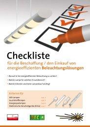 Checkliste Beleuchtung - OÖ Energiesparverband