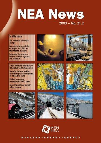 NEA News 2003 - No. 21.2 - OECD Nuclear Energy Agency