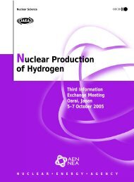 Nuclear production of Hydrogen - OECD Nuclear Energy Agency