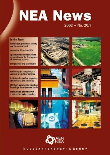 NEA News 2002 - No. 20.1 - OECD Nuclear Energy Agency