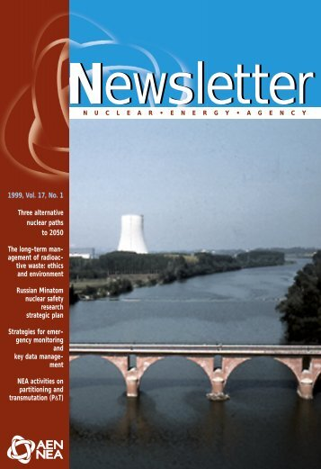 NEA Newsletter Volume 17 Issue 1 - OECD Nuclear Energy Agency