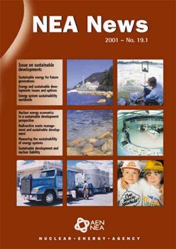 NEA News 2001 – No. 19.1 - OECD Nuclear Energy Agency