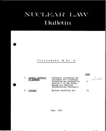 NLB-19-SUP - OECD Nuclear Energy Agency