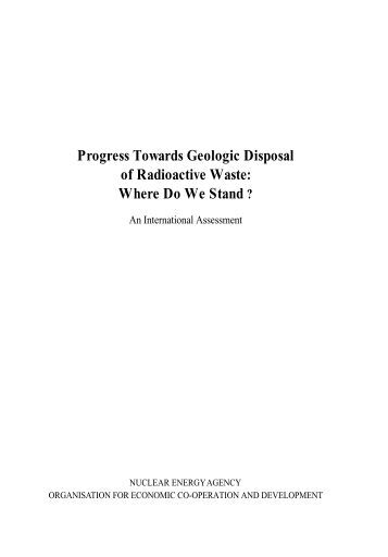 Progress towards geologic disposal of radioactive waste: Where do ...