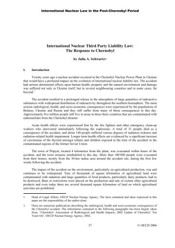 International Nuclear Third Party Liability Law - OECD Nuclear ...