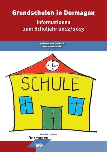 Grundschulen in Dormagen Informationen zum ... - Stadt Dormagen