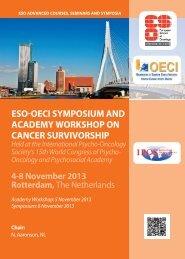 eso oeci symposium and academy workshop on cancer survivorship
