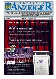 Anzeiger November 2013 - Stadt Oederan