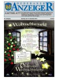 22. Jahrgang 12/2013 Sonntag, der 01. Dezember ... - Stadt Oederan