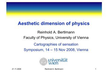 Aesthetic dimension of physics