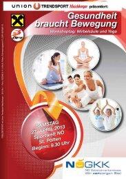 Gesundheit braucht Bewegung - Sportunion