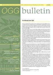 OGG-Bulletin 1/2005 - Die Oekonomische Gesellschaft Bern ...