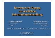 Barrieren im Zugang zur ärztlichen Substitutionsbehandlung ... - ögabs