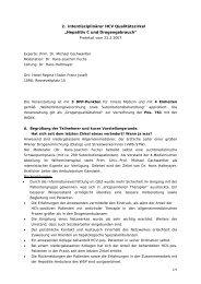 """2. interdisziplinärer HCV Qualitätszirkel """"Hepatitis C und ..."""